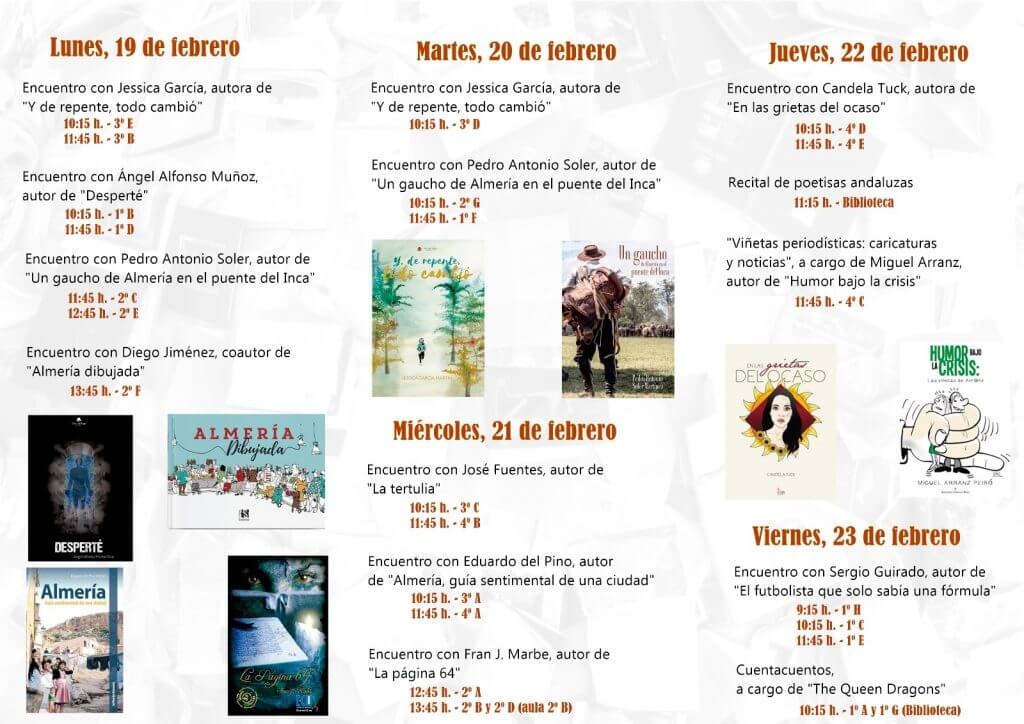 Horario V Encuentro Literario